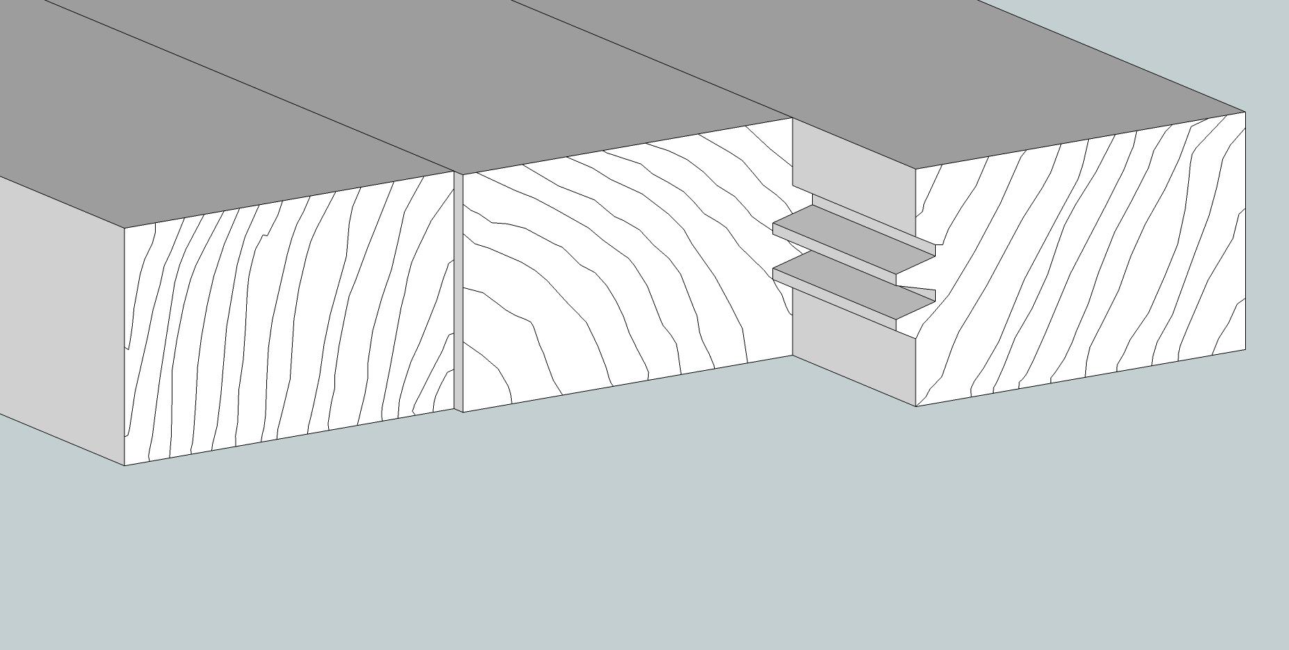 Holzschneidebrett Premium Kronenfuge schema langholz mit stumpf