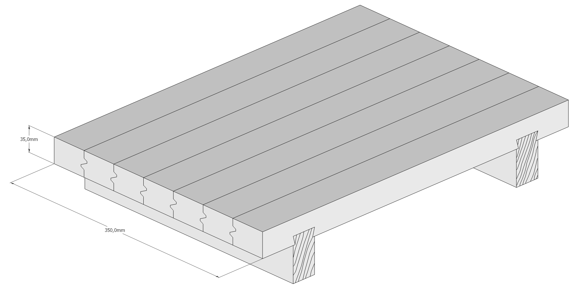 Holzschneidebrett Premium Brettevolution Gratleiste Kronenfuge