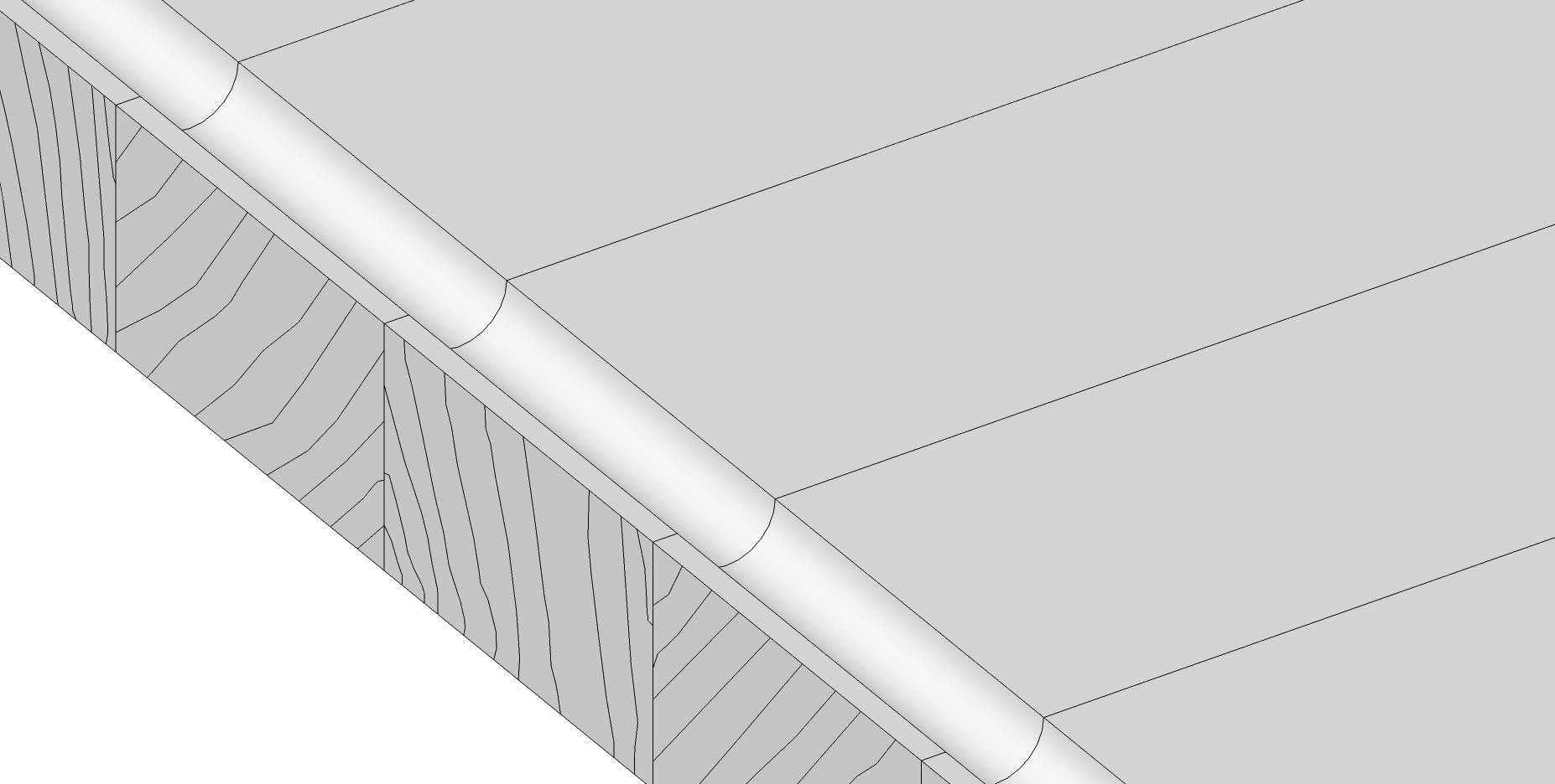 Holzschneidebrett premium Brettevolution 3cm saftrille zu nah am rand